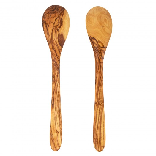 Salad cutlery made of olive wood 30 cm