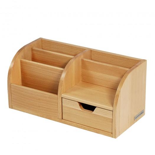 CLASSIC office butler desk organizer beech wood