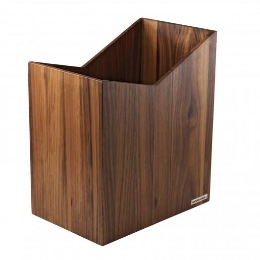 Zettelbox Nuss Vollholz 9,4 x 9,4 cm von NATUREHOME