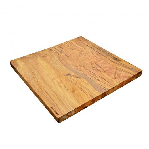 Cutting board PROFI made of olive wood, 60 x 60 cm