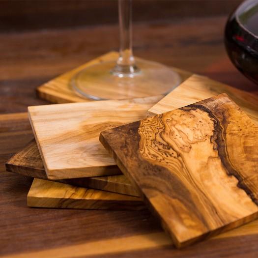Coaster olive wood 9 cm