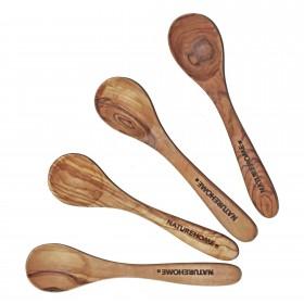 Egg spoon olive wood ca. 11-12 cm, div. sets