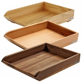 CLASSIC wooden tray 35 x 25 x 8 cm, div. sorts of wood