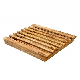 CLASSIC breadboard with crumb tray olive wood, div. sizes