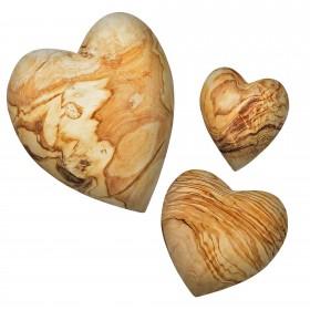 Decorative Heart Olive Wood, div. sizes