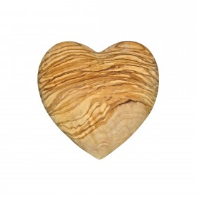 Decorative heart caressing of olive wood 10 cm