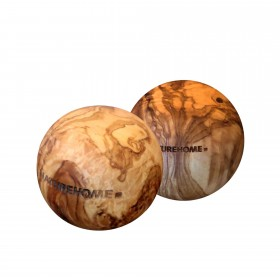 2 pieces of wooden balls olive wood, 5 cm