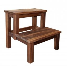 ECO Stepstool walnut wood natural oiled, 40 x 40 x 40 cm