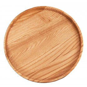 Wooden Serving tray round chestnut, 30 cm