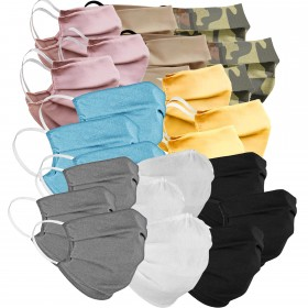 Set of 3 mouth and nose masks, different colors