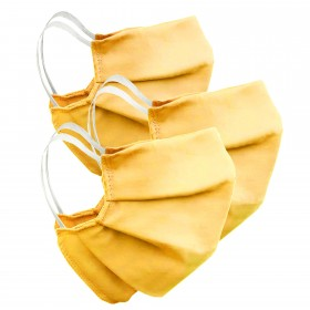 Mouth and nose mask yellow, 3 pieces