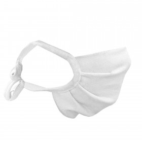 Lace-up nose and mouth mask, white