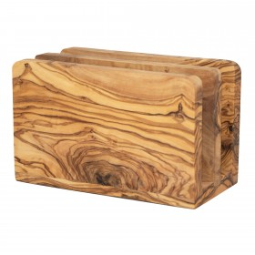 Napkin holder olive wood two drawers