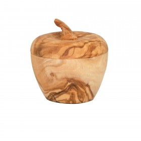 Bowl with cute apple designed top, 8 cm