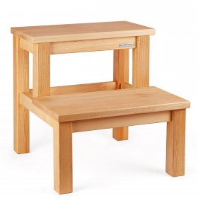 ECO step stool beech natural oiled, 40 x 40 x 40 cm