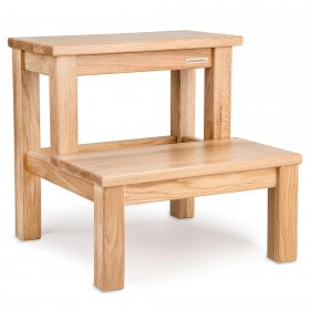 ECO step stool oak natural oiled, 40 x 40 x 40 cm