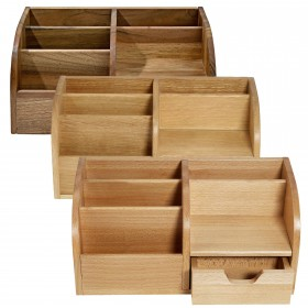 CLASSIC Office Butler desktop-organizer, div. sorts of wood