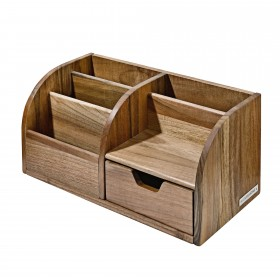 CLASSIC office butler desktop organizer walnut wood