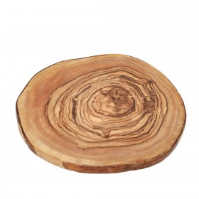 olive wood plate round wooden disc - Ø 17-22cm bark tree disc wooden board as a wedding decoration glass coaster breakfast board
