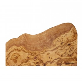 Cutting board olive wood with natural edge, rectangular, approx. 40 x 22 x 2 cm