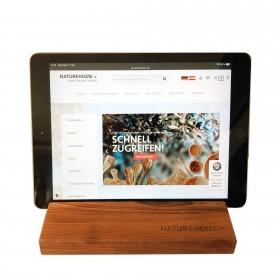 Tablet holder walnut wood 19.5 x 12.5 x 2.5 cm