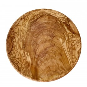Large plate, olive wood, round, 26cm