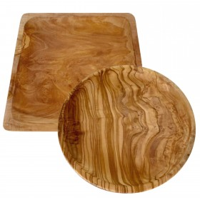 Olive wood plate, different shapes & sizes