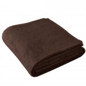 "Blanket ""Ole"" 100% Organic Cotton Chocolate"
