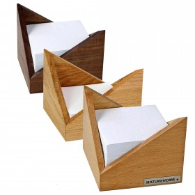 SKRIPT memo box 9,5 x 9,5 cm, div. sorts of wood