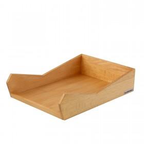 SKRIPT letter tray DIN A4 beech, stackable