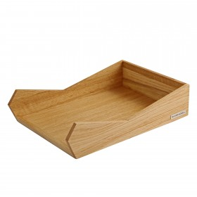 SKRIPT letter tray DIN A4 oak, stackable