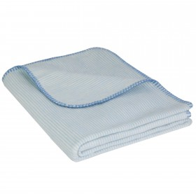 Baby Jacquard Blanket MIKA 100% Cotton (Organic) Light Blue 70 x 100 cm
