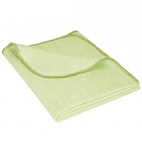 Baby Jacquard Blanket MIKA 100% Cotton (Organic) Light Green 70 x 100 cm