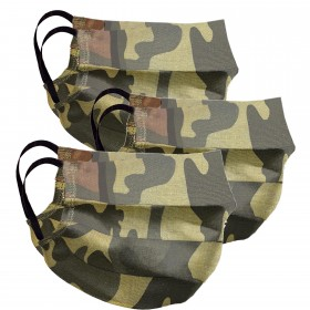 Mouth and nose mask camouflage 3 pieces