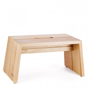 DESIGN foodstep oak naturally oiled with carry slot, 49 x 23 x 24 cm