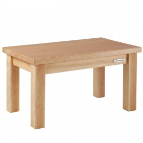 ECO footstool beech natural oiled, 40,5 x 26 x 24 cm