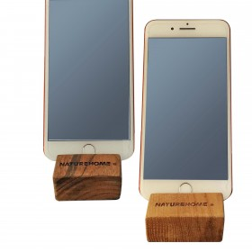 Cell phone holder wood 8 x 6 x 2.5 cm