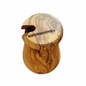 DESIGN honey pot olive wood