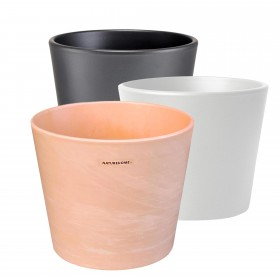 ceramic pot in different colors and sizes