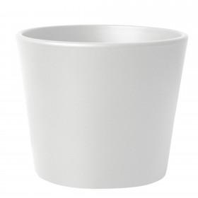Blumentopf Übertopf Keramik Weiß Matt Ø 23 cm