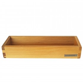 Candle tray beech wood, 30 x 10 cm
