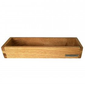 Candle tray chestnut wood, 30 x 10 cm