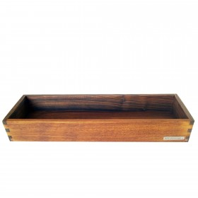 Candle tray walnut wood, 30 x 10 cm