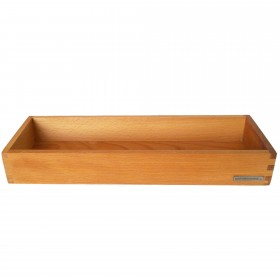 Candle tray beech wood, 45 x 15 cm