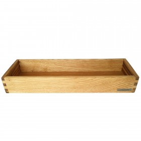 Candle tray chestnut wood, 45 x 15 cm