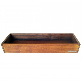 Candle tray walnut wood, 45 x 15 cm
