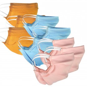 set of 3 pieces of  face masks for children in different colors
