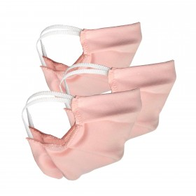 3 pieces of face masks for kids, pink