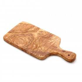 Chopping Board Olive Wood with Handle, 30 x 14 x 1,3 cm