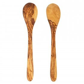 Salad Spoon Set Olive Wood